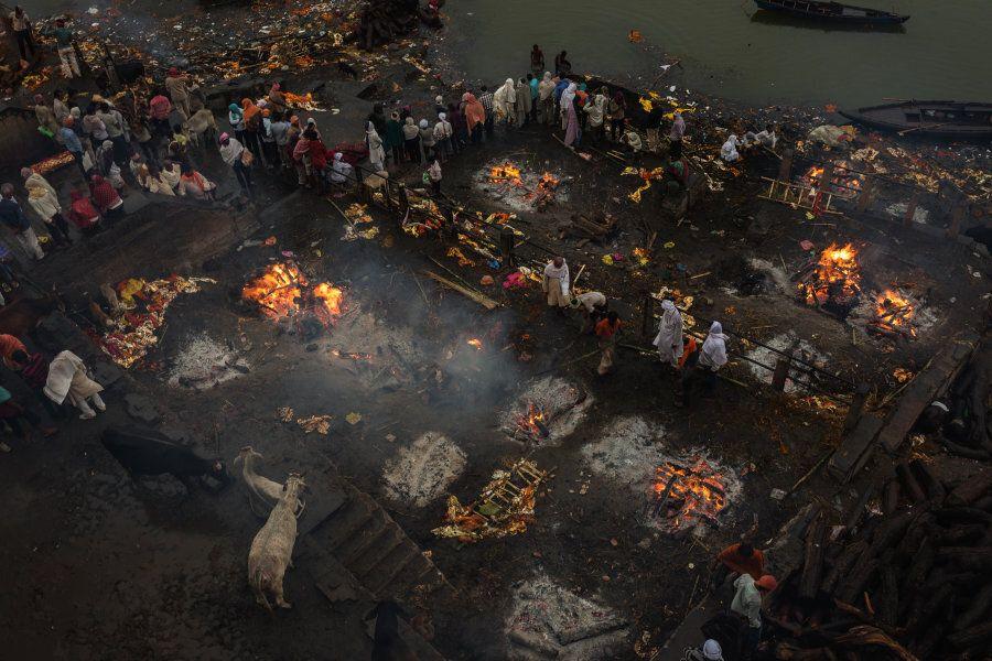 The burning ghats of Varanasi.