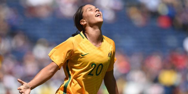 This was Sam Kerr celebrating after yet another goal in the Tournament of Nations in August. The whole...