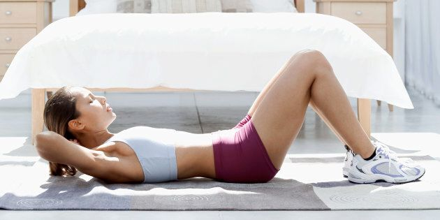 All you need is your body and the floor.