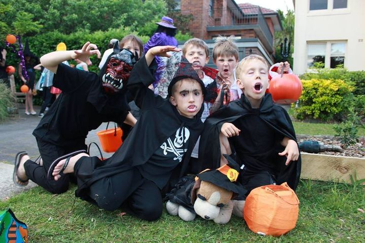 Kids in Australia love to dress up as spooks.