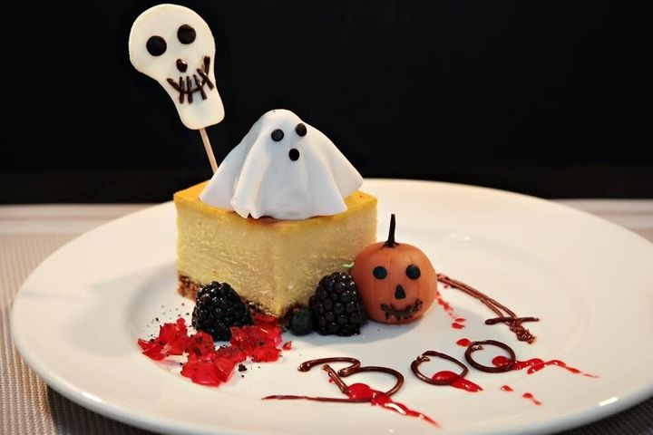 You can get a slice of Scary Cheesecake on the Carnival Cruise Line.