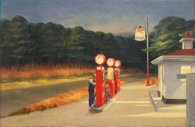 'Gas' (1940) by Edward Hopper (American,