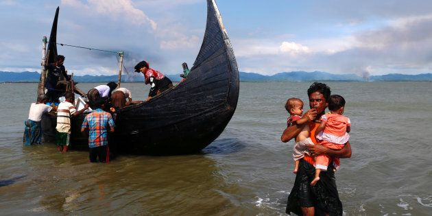 Rohingya Muslims are paying Bangladeshi fisherman to ferry them to