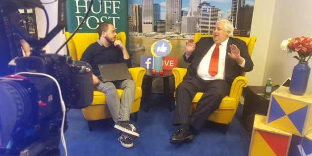 Clive Palmer sits down with HuffPost