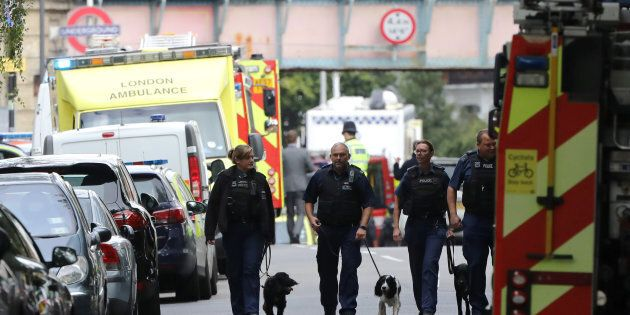 A terror attack on a London train has injured 29 people.