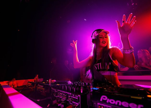 DJ Tigerlily, seen here performing in Canada in January, will trade in her deks for running shoes to...