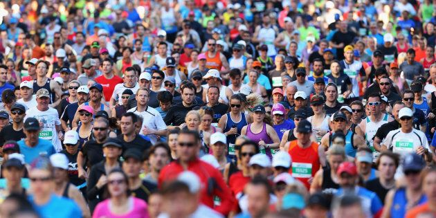 Thousands have taken part in the Sydney Running Festival.