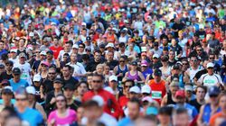 Picture Perfect: Thousands Cross Harbour Bridge For Annual Running