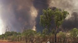 Out-Of-Control Bushfire Threatens Homes In Western