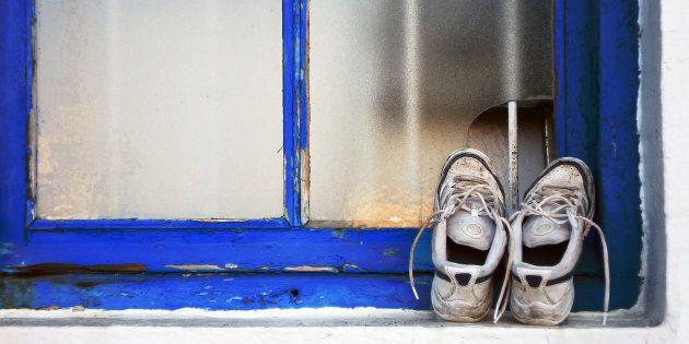 Dirty old shoes belong in shoe heaven.
