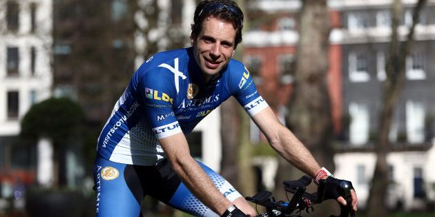 Mark Beaumont pictured in London before departing on his journey.