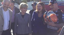 Julie Bishop Drops A Huge Spoiler As Her Campaign Hits Top