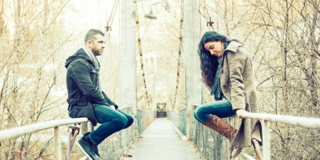 Probably don't break up with them while sitting on the edge of a bridge