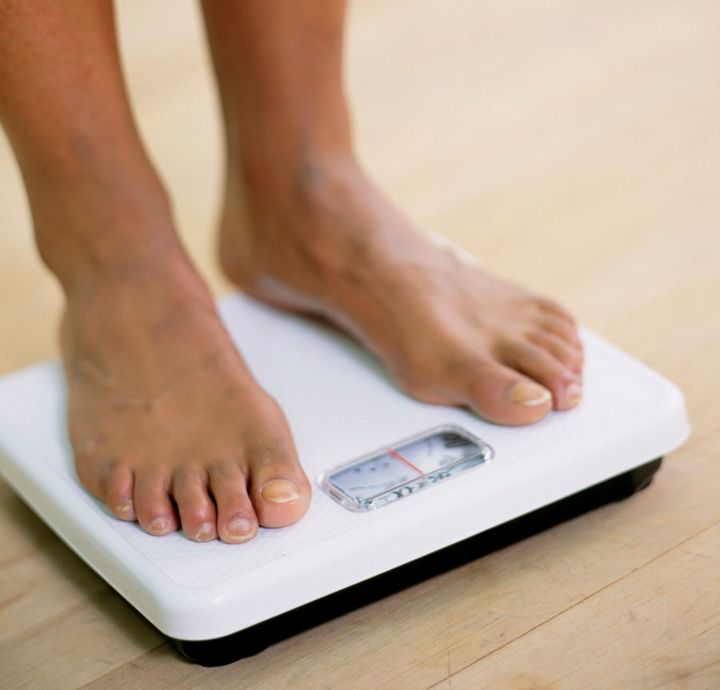Obsessively weighting yourself is another warning sign.