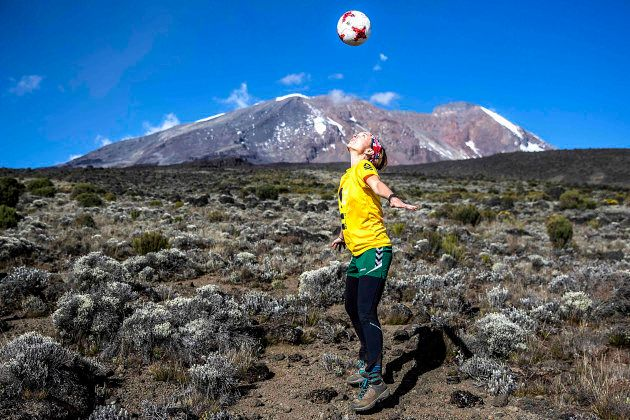 Laura Youngson took a team of women to play soccer on the summit of Mount
