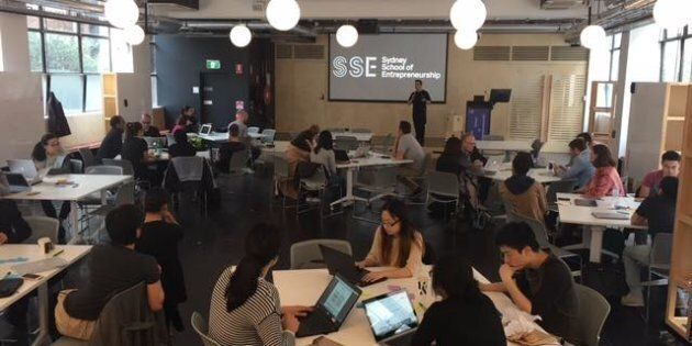 Participants in the hackathon, over the weekend in Sydney.