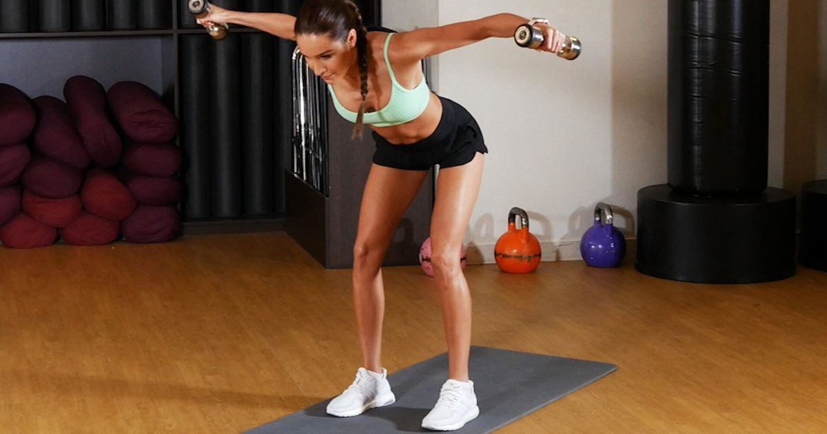 Try This Quick Full Body Dumbbell Workout With Kayla Itsines