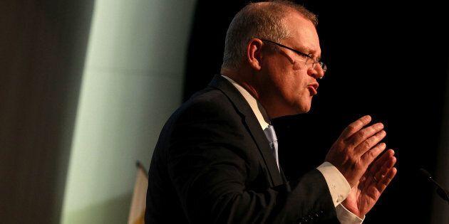Treasurer Scott Morrison addressing the Urban Development Institute of Australia on  booming house prices in Australia.