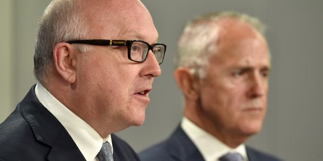 Attorney-General George Brandis announced Gleeson's resignation on Monday