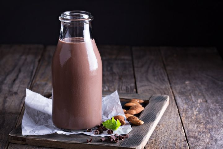 Flavoured non-dairy milks, such as chocolate and coffee, are becoming more available.