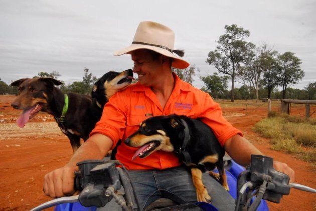 Farmer Dave on his NSW dog farm in 2015, shortly before it