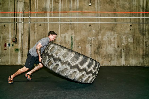 Don't have access to your own giant tyre at home? Join a gym (just read the contract
