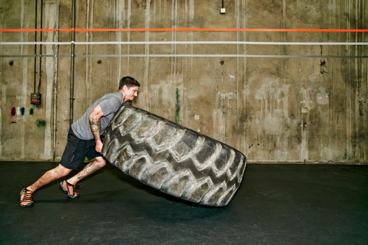 Don't have access to your own giant tyre at home? Join a gym (just read the contract first).