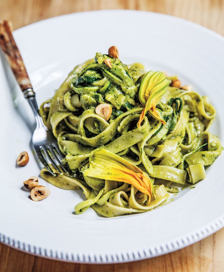 Love the idea of zoodles but love pasta even more? This dish is the best of both worlds.