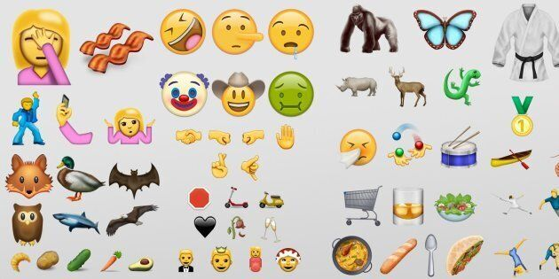 Mockups for every emoji coming in June, showing how Emojipedia thinks they may