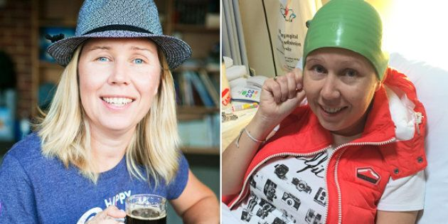 Belinda Evans trialled a cap designed to reduce hair loss during