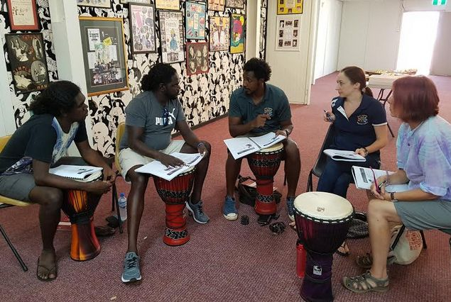 Drumbeat facilitators are teachers who are  trained in the program.