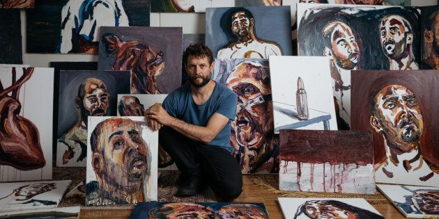 Ben Quilty is the co-curator of 'Another Day In Paradise'.