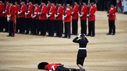 Soldier Collapses Face-Down In Middle Of Queen's Birthday