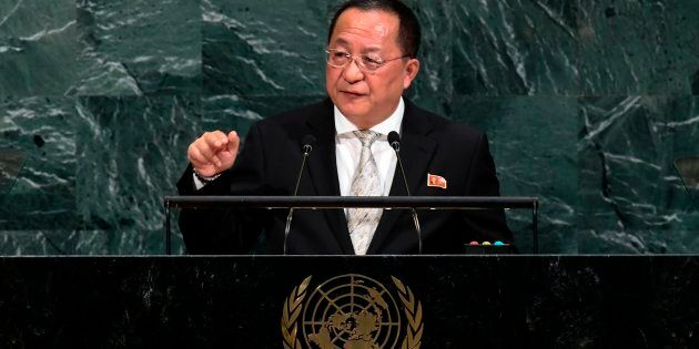 North Korea's Foreign Minister Ri Yong Ho addressed the 72nd session of the United Nations General assembly...