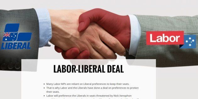 The Greens' prediction of a Liberal-Labor deal seems to have come