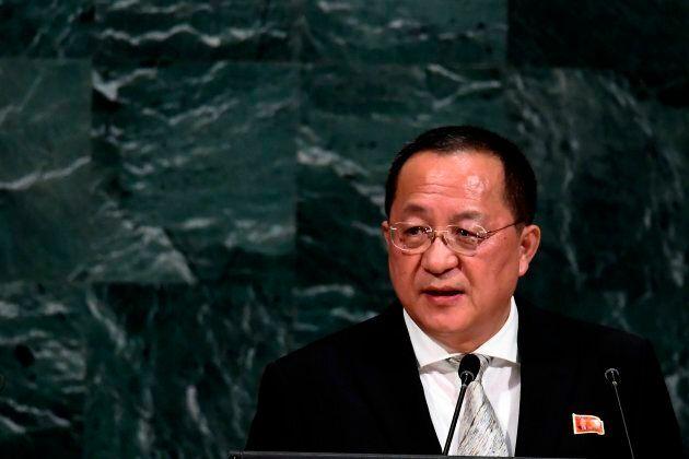 North Korea's Foreign Minister Ri Yong Ho said Pyongyang wants to