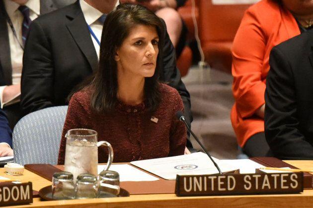 U.S. Ambassador to the United Nations Nikki Haley raised the idea of North Korean sanctions in a U.N....