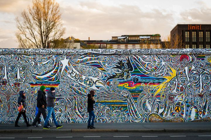 Berlin Wall, East Side Gallery.