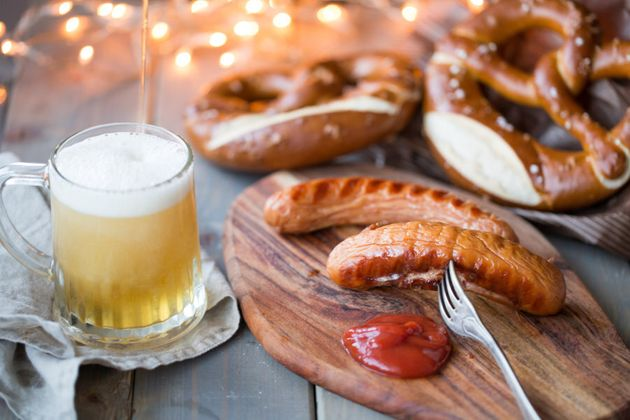 Bavarian sausages with Bretzeln and