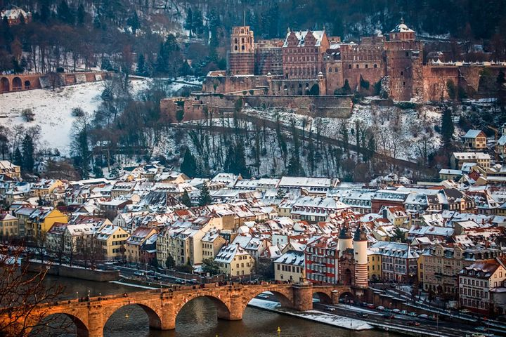 Heidelberg covered in snow. Magical.