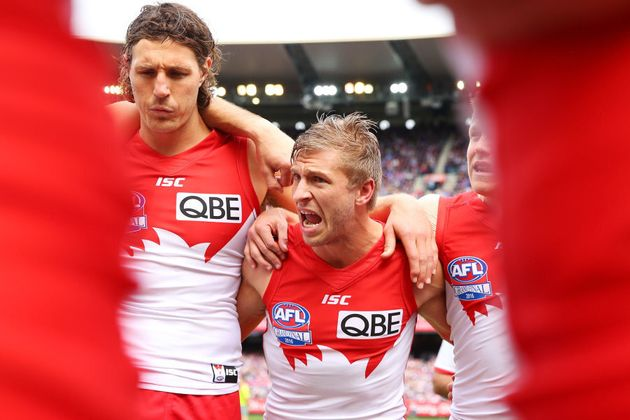 Who knows? Kurt Tippett (left) might even touch the ball a few times in