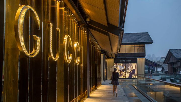 Luxury shopping in Chengdu, China.