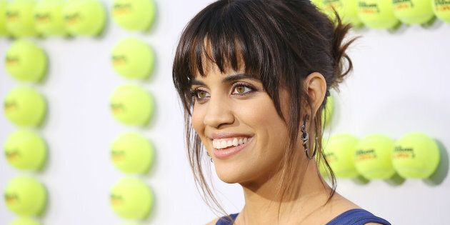 Natalie Morales at the Los Angeles premiere of 'Battle Of The Sexes' where she plays Rosie Casals, the...