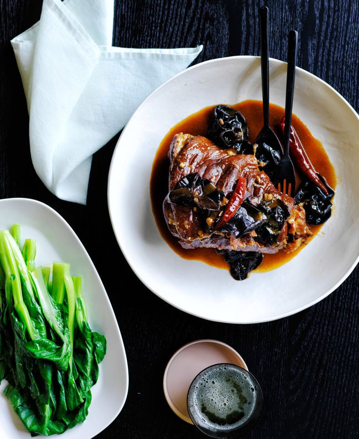 This Chinese-style dish is packed with salty-sweet-sour flavour, making it a perfect accompaniment to the tender pork.