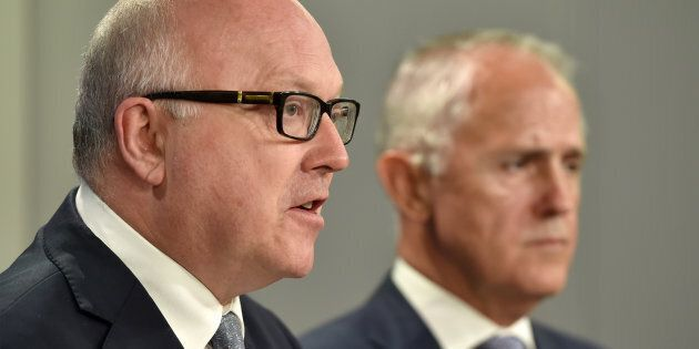 Australia's Attorney General George Brandis and Prime Minister Malcolm