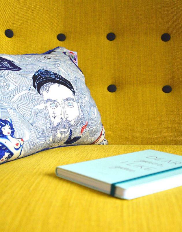 Throw cushions can be a great way to add character without taking up too much