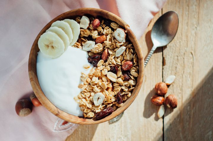 Muesli with yoghurt and fruit is a delicious, filling way to start your day.