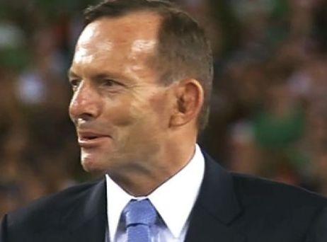 Tony Abbott at the 2014 NRL Grand Final
