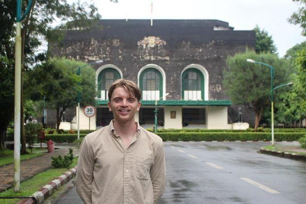 James Barklamb outside of Yangon