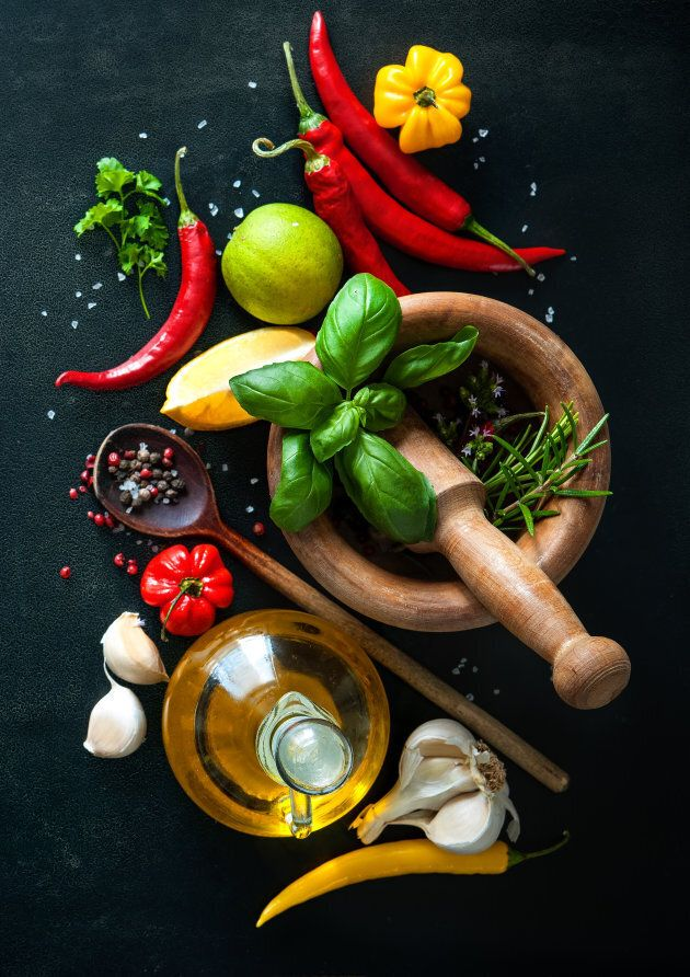 Garlic, herbs and spices are also nature's antibacterial foods.